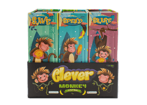 Clever monkey piggy banks